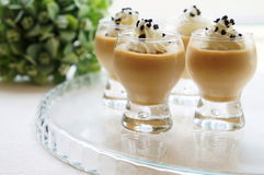 Earl Grey Tea Mousse Stock Image