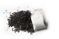 Earl grey tea and tea bag Royalty Free Stock Images