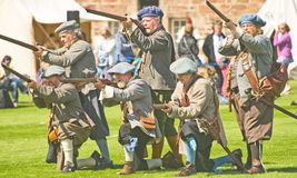 The Earl of Loudoun's Regiment of Foote. Royalty Free Stock Images
