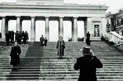 Earl Pier Colonnade in Sevastopol, USSR, 1950th Royalty Free Stock Photo