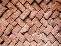 An old hand-made brick in wooden molds stock illustration