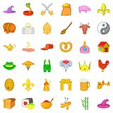Earliest icons set, cartoon style Royalty Free Stock Photography