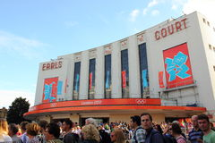 Earls Court, Olympia 2012. Earls Court, the stadium for Volleyball competitions during the Olympic Games, London 2012 Royalty Free Stock Image