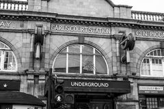 Earls Court Underground Station in London - LONDON - GREAT BRITAIN - SEPTEMBER 19, 2016 Stock Photography