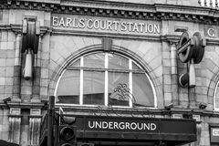 Earls Court Underground Station in London - LONDON - GREAT BRITAIN - SEPTEMBER 19, 2016 Stock Photo
