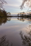 Earlswood Lakes  on a  Winters Morning Royalty Free Stock Photography