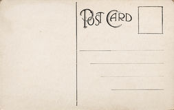 Early 1900 Blank Postcard. Blank aged antique post card from early 1900s Royalty Free Stock Images