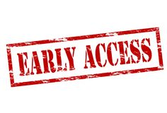 Early access. Rubber stamp with text early access inside,  illustration Royalty Free Stock Image