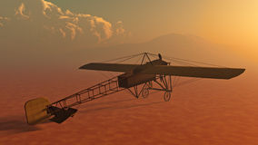 Early Airplane Bleriot XI Royalty Free Stock Photo