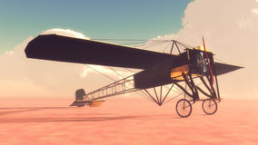Early Airplane Bleriot XI stock illustration