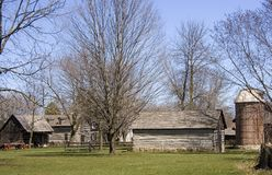 Early American Pioneer Homestead Stock Photography