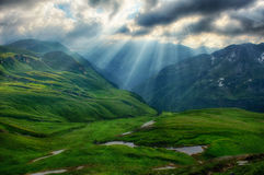 Early in the Austrian Alps. Dramatic mood early in the morning the the Austrian Alps Royalty Free Stock Photography