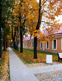 Early autumn. In the town Royalty Free Stock Images