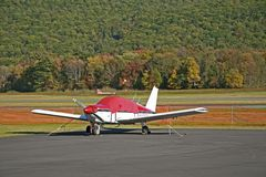 Early autumn at the airport. Early autumn at an airport, in the foothills Royalty Free Stock Images