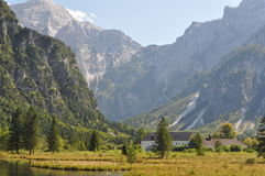 Early autumn in Almtal valley Stock Photo