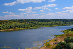 Early autumn on the banks of Oka river Royalty Free Stock Image