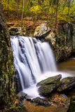 Early autumn color at Kilgore Falls, at Rocks State Park, Maryla Stock Photo