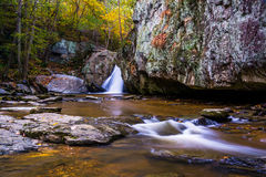 Early autumn color at Kilgore Falls, at Rocks State Park, Maryla Royalty Free Stock Photos