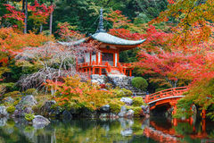 Early Autumn at Daigoji Temple in Kyoto Stock Photo