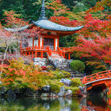Early Autumn at Daigoji Temple in Kyoto Stock Image