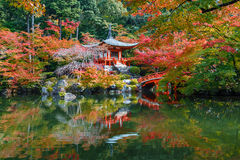 Early Autumn at Daigoji Temple in Kyoto Royalty Free Stock Image