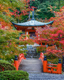 Early Autumn at Daigoji Temple in Kyoto Stock Images