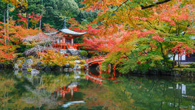 Early Autumn at Daigoji Temple in Kyoto Royalty Free Stock Photo