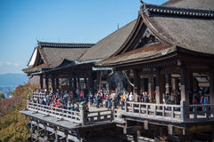 Early autumn of Kiyomizu-dera temple Stock Photos