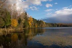 Early Autumn Lake Stock Photography