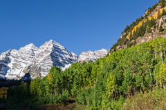 Early Autumn at the Maroon Bells Royalty Free Stock Photography