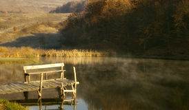 Early autumn morning at a beautiful lake Royalty Free Stock Image