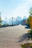 Early autumn morning in the city Royalty Free Stock Photos