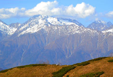 Early autumn in the mountains of Krasnaya Polyana, Sochi Royalty Free Stock Photos