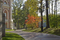 Early autumn in park Tsaritsyno (Moscow). Royalty Free Stock Image