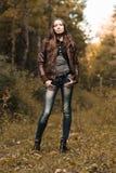 Early autumn portrait of girl Stock Photo