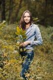Early autumn portrait of girl Stock Photos