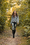 Early autumn portrait of girl Royalty Free Stock Image