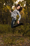 Early autumn portrait of girl Royalty Free Stock Photography