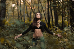 Early autumn portrait of girl Royalty Free Stock Photos