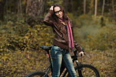 Early autumn portrait of girl Stock Photography