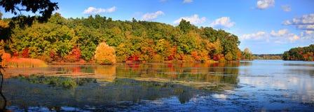 Early autumn reflection Royalty Free Stock Photos