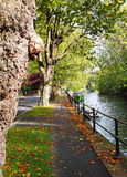 Early Autumn by the River Thames in England Royalty Free Stock Images