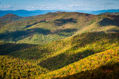 Early autumn view of the Blue Ridge, from Blackrock Summit, in S Stock Photography