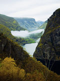 Early autumn view of fjord Stock Image