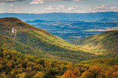 Early autumn view of the Shenandoah Valley, seen from Skyline Dr Stock Photo