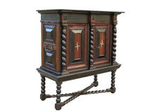 Early Baroque cabinet on stand. Cabinet made about 1670 to 1700 Royalty Free Stock Photos
