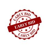 Early bid stamp illustration. Early bid stamp seal illustration design Stock Photo
