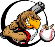 Early Bird Baseball Player Holding Baseball Bat Stock Image