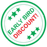 Early bird discount Royalty Free Stock Image