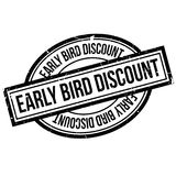 Early Bird Discount rubber stamp. Grunge design with dust scratches. Effects can be easily removed for a clean, crisp look. Color is easily changed Royalty Free Stock Photos